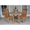 Anderson Teak Chicago Round Bistro 3 Piece Set