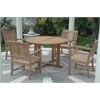 Tosca 4-Foot Round Dining 5 Piece Set