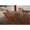 Bahama Round Folding Dining 5 Piece Set