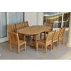 "87"" Oval Extension Dining 9 Piece Set"