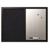 MasterVision Combo Bulletin Board, Bulletin/Dry Erase, 24X18, Black Frame
