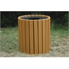 Frog Furnishings 32 Gal. Cedar Heavy Duty Round Receptacle