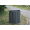 Frog Furnishings 32 Gal. Gray Standard Round Receptacle