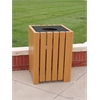 Frog Furnishings 32 Gal. Cedar Heavy Duty Square Receptacle