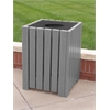 Frog Furnishings 32 Gal. Gray Standard Square Receptacle