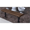 Frog Furnishings 4 ft. Brown Creekside In-Ground Bench