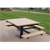 Frog Furnishings 4 ft. Cedar T-Table With black In-Ground Frame