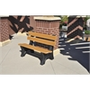 Frog Furnishings 6 ft. Cedar Colonial Bench