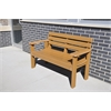 Frog Furnishings 4 ft. Cedar Elizabeth Bench