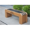 Frog Furnishings 4 ft. Cedar Gateway Bench with design