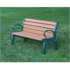 Frog Furnishings 4 ft. Cedar Heritage Bench with Green Frame