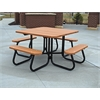 Frog Furnishings 4 ft. Cedar Square Picnic Table