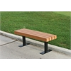 Frog Furnishings 4 ft. Cedar Trailside Bench