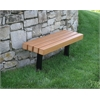 Frog Furnishings 4 ft. Cedar Trailside In-Ground Bench