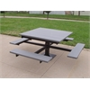 Frog Furnishings 4 ft. Gray T-Table with Black Frame