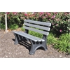 Frog Furnishings 6 ft. Gray Central Park Bench