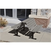Frog Furnishings 8 ft. Gray Douglas Bench