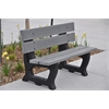 Frog Furnishings 4 ft. Gray Petrie Bench