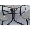 Frog Furnishings 4 ft. Green Square Picnic Table