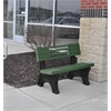 8 ft. Green Ariel Bench