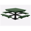 Frog Furnishings 4 ft. Green T-Table with Black Frame