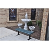 Frog Furnishings 4 ft. Green Creekside Bench