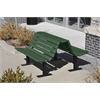Frog Furnishings 4 ft. Green Douglas Bench