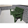 Frog Furnishings 4 ft. Green Elizabeth Bench