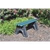 Frog Furnishings 8 ft. Green Sport Bench