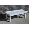 Frog Furnishings 4 ft. White Garden Bench
