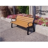 Frog Furnishings 5 ft. Cedar Heritage Bench with Black Frame