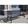 Frog Furnishings 6 ft. Black Aspen Bench