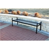 Frog Furnishings 6 ft. Black Aspen Backless Bench