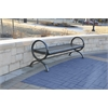 Frog Furnishings 6 ft. Black Wellington Backless Bench