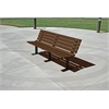 Frog Furnishings 8 ft. Brown Contour Bench