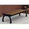 8 ft. Brown Heritage Backless Bench with Black Frame