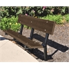 Frog Furnishings 6 ft. Brown In-Ground Madison Bench with Black Frame