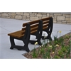 Frog Furnishings 6 ft. Brown Brooklyn Bench