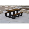 Frog Furnishings 8 ft. Brown Park Place Table