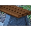Frog Furnishings 8 ft. Brown Sport Bench