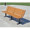 Frog Furnishings 4 ft. Cedar Contour Bench