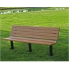 4 ft. Cedar Contour In-Ground Bench