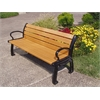 Frog Furnishings 6 ft. Cedar Heritage Bench with Black Frame