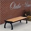 6 ft. Cedar Heritage Backless Bench with Black Frame