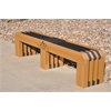 Frog Furnishings 6 ft. Cedar Gateway Bench with design