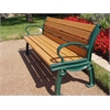 6 ft. Cedar Heritage Bench with Green Frame