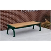 Frog Furnishings 4 ft. Cedar Heritage Backless Bench with Green Frame