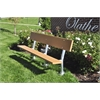 Frog Furnishings 6 ft. Cedar In-Ground Madison Bench with Galvanized Frame