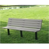 Frog Furnishings 4 ft. Gray Contour In-Ground Bench