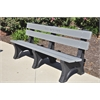 Frog Furnishings 8 ft. Gray Colonial Bench